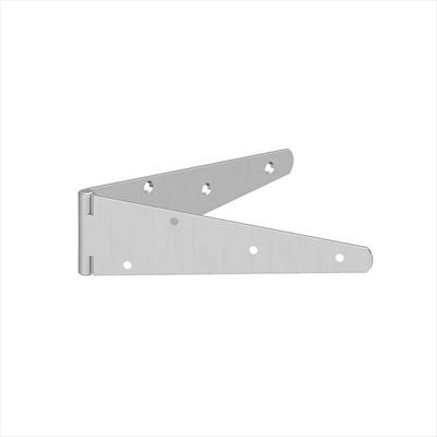 "MEDIUM STRAP HINGES | 8"" 200MM BZP (PAIR)"