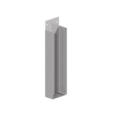"GRAVEL BOARD BRACKETS | 6X2"" 150X50MM GALV"