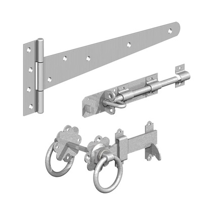 "GM S/GATE KIT(RING GATE LATCH) | 18"" 450MM GALV"