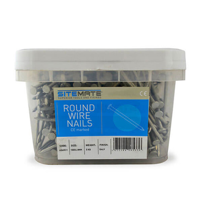 P/P ROUND WIRE NAILS 10KG TUB | 75 X 3.35MM GALV