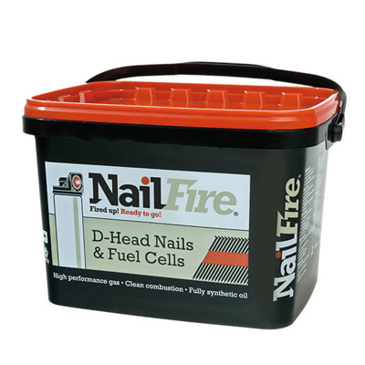 NAILFIRE RING SHANK NAILS-3000 | 50X2.9MM TUB 3000 HOTGALV