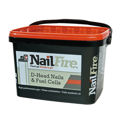 NAILFIRE RING SHANK NAILS-3000 | 50X2.9MM E/GLV TUB 3000