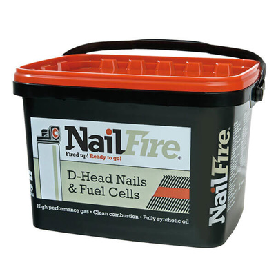 NAILFIRE RING SHANK NAILS-3000 | 65X2.9MM E/GLV TUB 3000