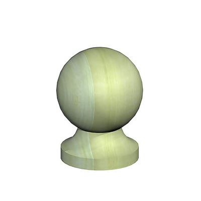 "FM BALL FINIAL & BASE PACK 2 | 3"" 75MM GREEN TREATED"