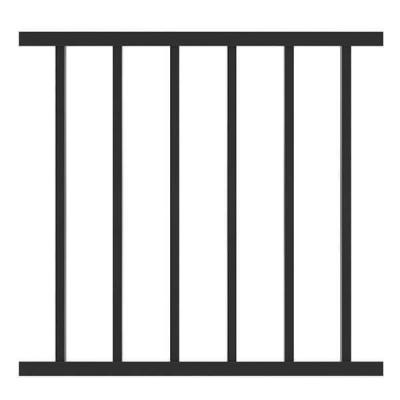 "METAL RAILING PANEL WELDED | 28""X8' (2440X700MM) BLACK"