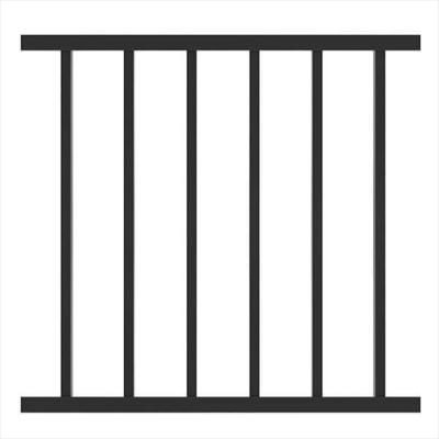 "METAL RAILING PANEL WELDED | 96X34"" (2440X863MM) BLK"